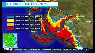 Southwest Florida storm surge predictions from Hurricane Irma -- 9am Sunday - Video