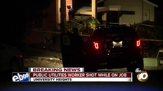 City employee shot while working in University Heights