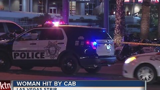 Woman hit by taxi on Las Vegas Strip
