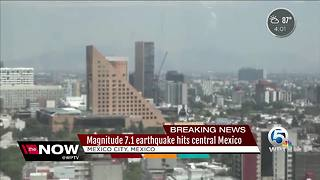 Magnitude 7.1 earthquake hits central Mexico - Video