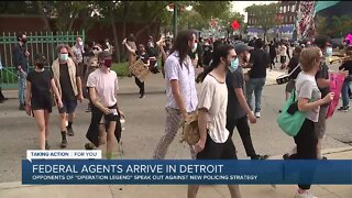 Protesters oppose 'Operation Legend' coming to Detroit