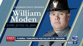 Funeral for CSP Trooper William Moden is Friday