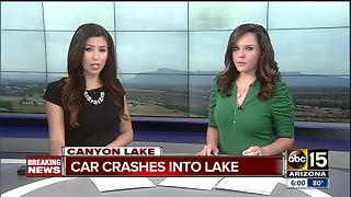 At least one injured after car goes into Canyon Lake, DPS investigating - Video