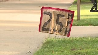 Homemade speed limit signs in Livonia - Video