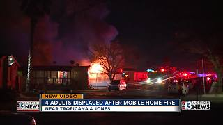Mobile home, apartment building catch fire overnight - Video