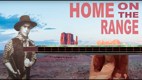 How to Play Home on the Range on a Tremolo Harmonica with 16 Holes