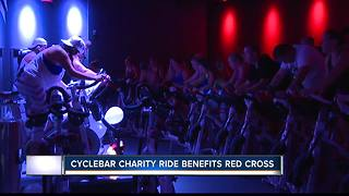 CycleBar charity ride benefits Red Cross - Video