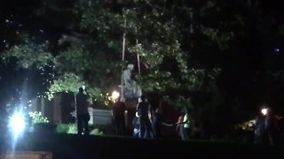 Roger B. Taney statue removed from State House grounds Friday morning - Video