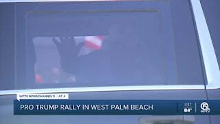 Pro-Trump rally held in West Palm Beach