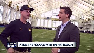 Inside the Huddle with Jim Harbaugh: Peters has 'earned the right' to play - Video