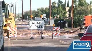 Water main breaks on Fairview - Video