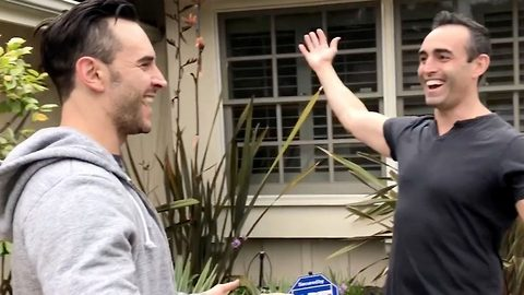 Ultimate birthday surprise for brother: Man surprises brother by moving to same city as him