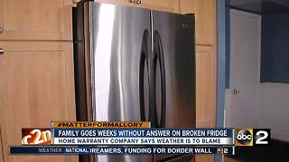 Home warranty woes: Family with sick child waits weeks for answer on broken fridge - Video