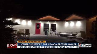 License suspended for Love Ranch Brothel owner - Video