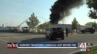 Lee's Summit chemical facility catches on fire - Video