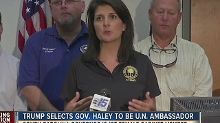 Trump selects Gov. Haley to be U.N. Ambassador - Video