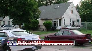 Police looking for 4 men who sexually assaulted woman in basement of Detroit home - Video