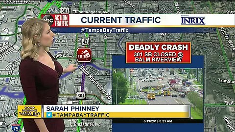 Deadly crash shuts down SB US 301 in Riverview
