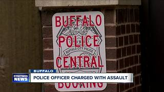 Buffalo police officer arrested, facing charges after alleged cell block assault - Video