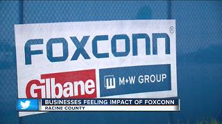 Businesses feeling the impact of Foxconn - Video