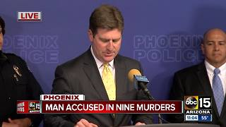 Phoenix mayor credits technology, agency cooperation for capture of accused killer - Video