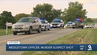Middletown K9 officer, murder suspect shot after police chase