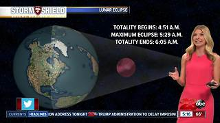 Beautiful conditions for the super blue moon eclipse Wednesday morning - Video