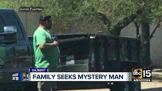 Valley family trying to find mystery man who paid respects during funeral procession