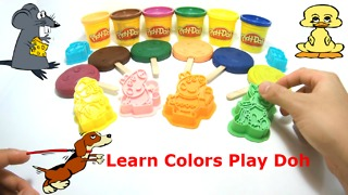 Learn Colors Play Doh Ice Cream Popsicle Peppa Pig Paw Patrol Fun & Creative for Kids  - Video