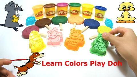 Learn Colors Play Doh Ice Cream Popsicle Peppa Pig Paw Patrol Fun & Creative for Kids