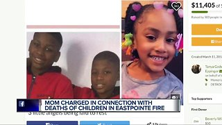 Woman charged after children allegedly left at home, die in Eastpointe fire