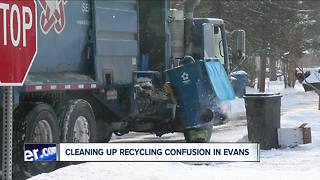 Evans recycling plan causing confusion - Video
