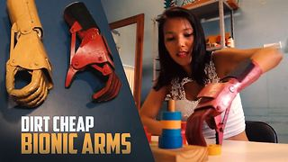 Cardboard & home plastics make affordable prosthetics - Video