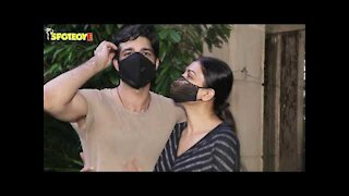 Sushmita Sen with beau Rohman Shawl Spotted at Bandra | SpotboyE