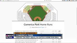 Finding the best seats to catch a home run ball at Comerica Park - Video