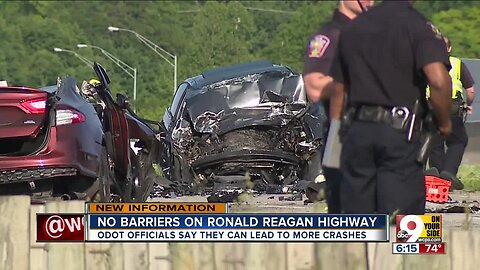 Could barriers on Ronald Reagan Highway have prevented crash?