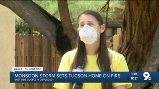 Couple's home condemned after lightning sparked a fire