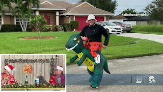 Neighbors make their own Thanksgiving parade