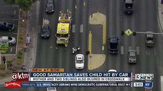 Good Samaritans rushed to help mother, 3 children hit by car - Video