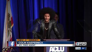 Colin Kaepernick receives award at ACLU dinner - Video