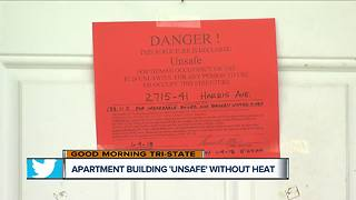 With no heat, residents of Norwood apartment building kicked out - Video