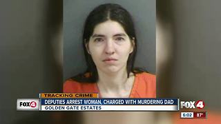 Woman accused of murdering her father at home - Video