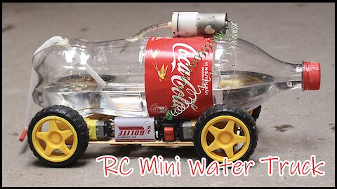 Let's make an RC Water Truck with remote from Cocacola and motors