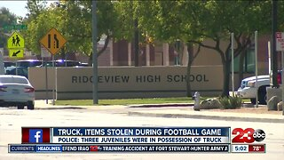 Truck stolen from Ridgeview High School