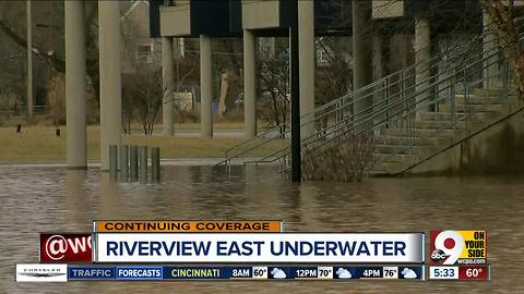 Cincinnati Public Schools' Riverview East Academy is closed for flooding