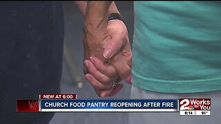 Church food pantry reopens after fire