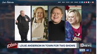 Comedian Louie Anderson in Las Vegas for 2 Shows - Video
