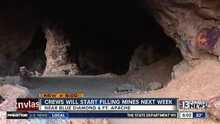 Construction crews to start filling abandoned mines near Blue Diamond, Ft. Apache - Video