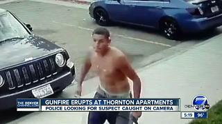 Half-dressed gunman walks up to Thornton apartment building, fires 4 rounds into the air - Video
