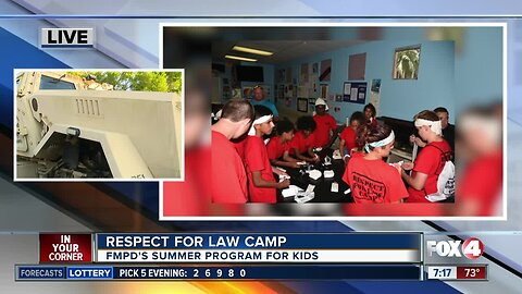 Fort Myers Police Dept. gets ready for Respect for Law Camp 7 a.m.